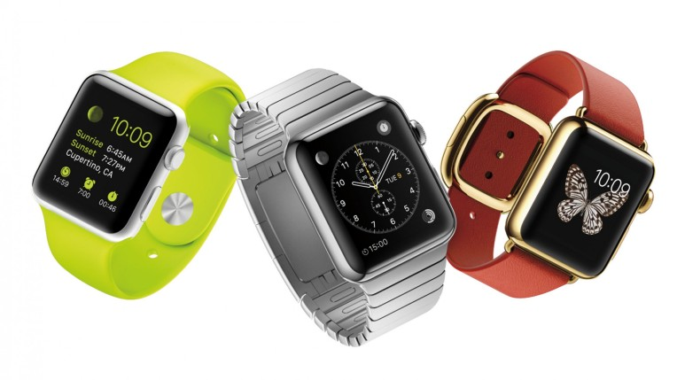 """The 3 """"tiers"""" of Apple Watch. Sport, Standard, and Edition."""