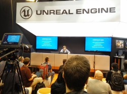 Unreal gave talks on how to use their new engine